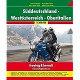 Motorradatlas Süddeutschland - Westösterreich - Oberitalien 1:200.000: Touristische Informationen. Ortsregister mit Postleitzahlen