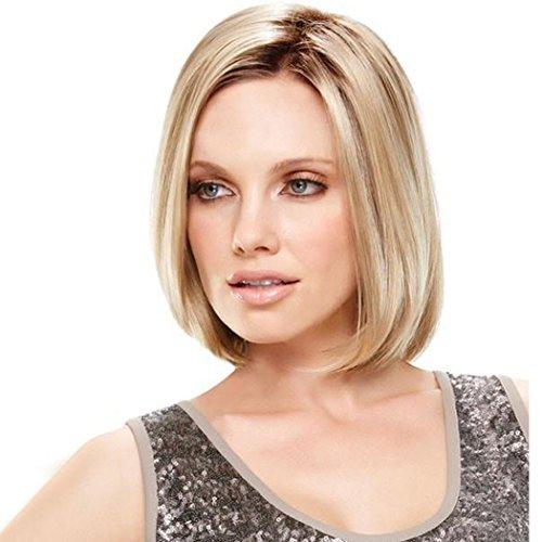 ATAYOU® Kurze Gerade Blonde Ombre Synthetische Bob Perücken Für Frauen-Tageskleid Mit 1 Freier Perücke kappe
