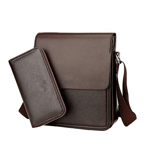 Männer Tasche Umhängetasche Mode Vertical Edition Messenger Bag Computer Tasche Datei Tasche Handtasche Brown1