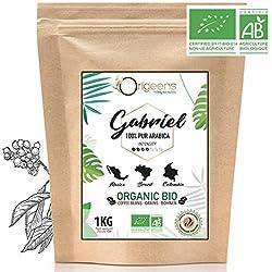 ☘️ Premium BIO Kaffeebohnen ● Biologische Arabica Kaffee Ganze Bohnen ● Säurearm ● Traditionelle Röstung ● Gabriel 1kg