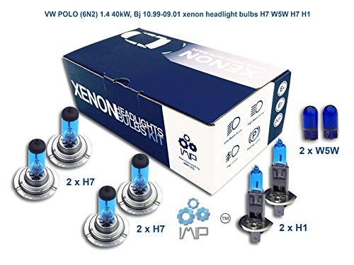 Xenon Effekt Auto Lampen Scheinwerfer H7W5W H7H1, 8er Pack
