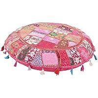 De Bohemia redondo cojín de suelo, tradicional Vintage Indian puf de suelo/taburete de pie, 100% algodón arte decoración cojín, sólo para, relleno no incluido