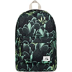 Quiksilver Mochila Night Track Print Backpack Negro Bp Slow Life Anthracite Talla:44 x 29 x 13 cm, 22 Liter