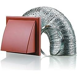 Blauberg UK bb-chk-150–3-vkte cappa aspirante 150mm tubo diametro Vent Kit ventilatore Estrattore, colore: Terracotta