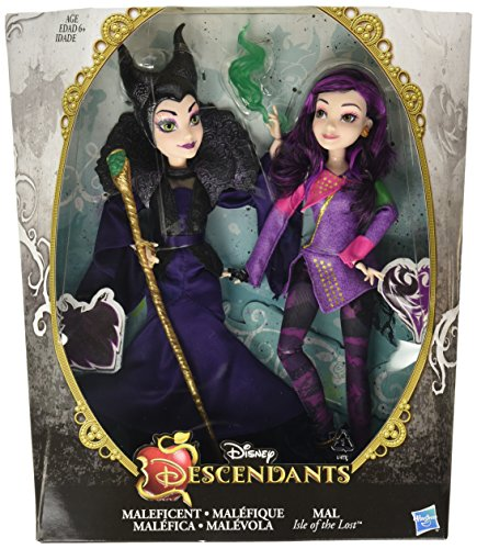 Disney Descendants Two-Pack Mal Isle of the Lost and Maleficent Dolls by Disney