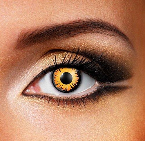 Fancy Me Damen Herren Erwachsene orange schwarz Twilight Gespenstisch Horror TV Buch Film Vampir Halloween Kostüm Schutzbrille