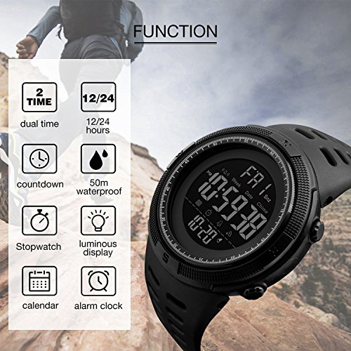 hiking clock man watches inteligente outdoor led electronic watch digital chronograph skmei sports reloj umnye compass men chasy