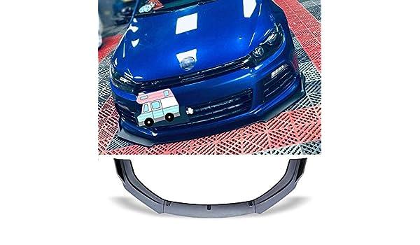 GWQNB 3Pcs Front Bumper Spoiler Protection Plate Lips Body Kit Stripes Chin Shovel For Vw Scirocco R 2009-2015 Gloss Black