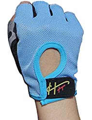 Demi-doigts équipement d'exercice haltère Sport Gants Slip respirant Fitness