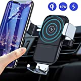 VANMASS Wireless Car Charger Mount,10W/7.5W Qi Fast Charging Car Phone Holder,Auto-Clamping Adjustable Gravity Air Vent Cradle for Samsung Note 9 8 S10 S10+ S9 S8 Edge, iPhone X XR XS Max 8 Plus,etc