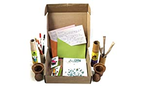 bioQ Plantable Rakhi Mini Planting Combo (Set of 2)   Eco Friendly Kit with 2 Mini Planting Sets   Also Includes : 1 Plantable Notepad, 1 Box of 5 Seed Pencils & 1 Box of 5 Seed pens