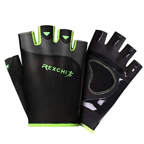 WLWNB Fitness Handschuhe Atmungsaktive rutschfeste Gym Gewichtheben Trainings Sport Handschuhe Damen/Herren mit Handgelenkstütze Palm Schutz,für Crossfit,Kraft,Bodybuilding,Kraftsport grün S
