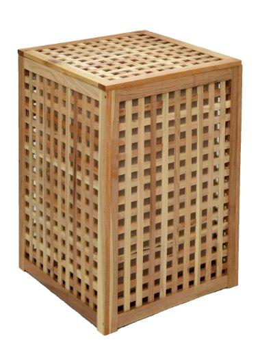 ts-ideen - Cesto para la colada (altura de 68cm, madera de nogal)