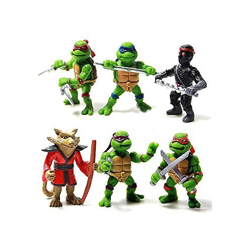 Image of Teenage Mutant Hero Ninja Turtles PVC Action Figures Set 6 Pcs