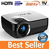 #5: Vivibright LED 1080p Mini Portable Full HD 3D HDMI VGA USB TV SD LED Projector 800x600 Pixels (SVGA)