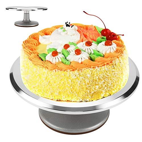 Kuchen-Drehteller, 12-Zoll-Aluminium-Kuchen-Drehteller Rotating Cake Stand Revolving Decorating Stand Gebäck Backen Decor Tool für Zuckerguss und Kuchen dekorieren Revolving Cake Stand