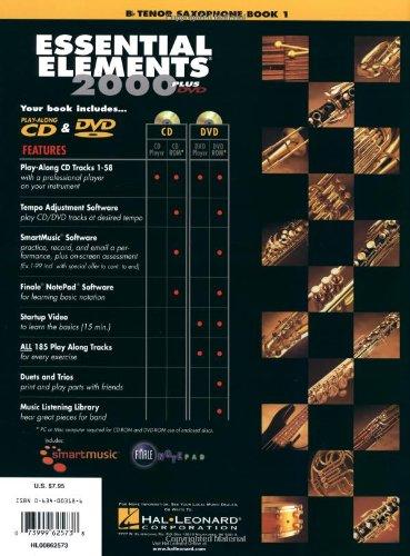 Essential Elements 2000, Book 1 Plus DVD: BB Tenor Saxophone