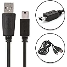 CELLONIC® Cable USB dato (1m) para TomTom GO 520 (2006), GO 720 730 750, GO 920 930 950, TomTom ONE XL, TomTom Urban Rider, Rider Pro, TomTom XL iQ Routes, XL Live, TomTom XXL iQ Routes (Mini USB a USB A (Standard USB)) cable de carga negro