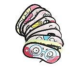 4Stück Cute Funny Cartoon Augen Schlafmaske Schlafmaske Abdeckung Eyeshades Augenmaske Blinder für Home Reise zufällige Farbe
