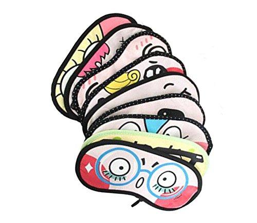 Confezione da 4Cute Funny Cartoon Eye Mask sonno maschera per dormire, Eyeshades Blindfold luci per (Sonno Eye Mask)
