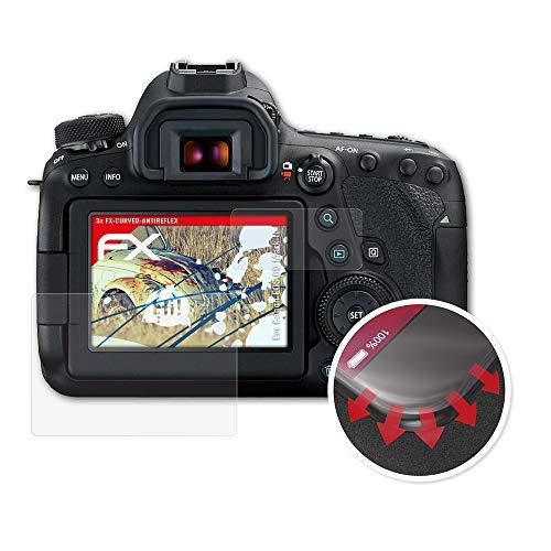 atFoliX Schutzfolie passend für Canon EOS 6D Mark II Folie, entspiegelnde und Flexible FX Displayschutzfolie (3er Set)