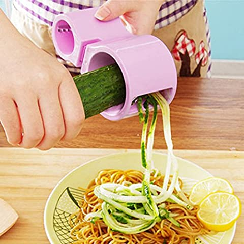 joygood Microplane–Cortador en espiral de verduras rizador verduras Zucchini Noodle Maker con afilador de