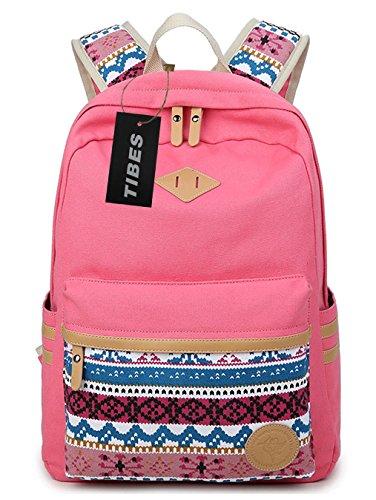 nd Laptop Rucksack für Mädchen Pink (Klar Rucksäcke Pink)