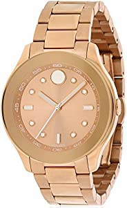Movado Womens Quartz Watch, Analog Display and Stainless Steel Strap 3600417