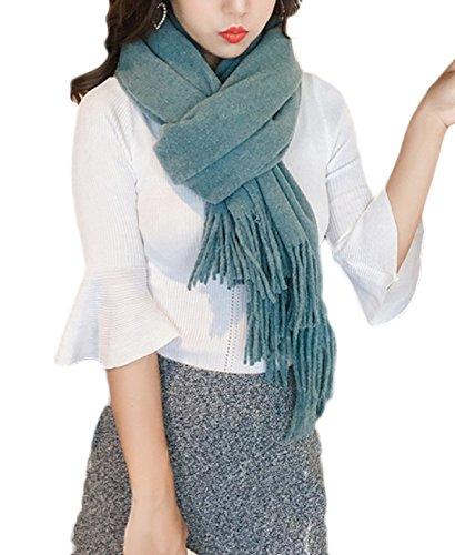 Gesäumten Rand Schal (PDFGO Schals Damen Herbst Und Winter Wollschal Britischer Wind Kragen Langer Schal Dick Warm Schals Schal Dual,I-210*65cm)