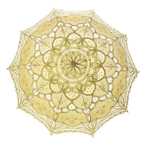 TopTie 10 PCS Sonnenschirm Regenschirm Lace Hochzeit Vintage Braut Kostüm Zubehör Foto Prop (Viktorianische Braut Kostüm)
