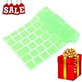 SALE Casiii Ultrathin MacBook Pro Keyboard Cover for Macbook Pro, Macbook Air, Macbook wireless keyboard and iMac, 13 15 and 17 Inch, With / Without Retina, Engineer-Quality Silicone (Green)