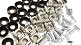 20 Pack M6 Cage Nuts and Bolts Screws Washers 19