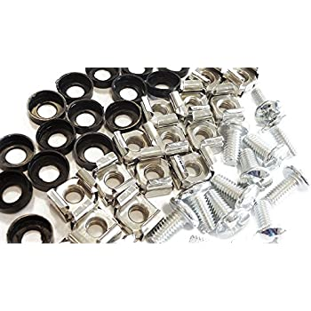 20 Pack M6 Cage Nuts and Bolts Screws Washers 19 Data Cabinet Rack Mount Bolts