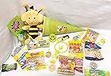 101634 gefüllte Schultüte Biene Maja klein 22cm Zuckertüte als Geschenk mit Schulbedarf & Spielzeug zum Schulanfang