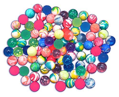 jameitop®  90 FLUMMIS  gemixte Bunte Farben (Frost / Verlauf / Neon) 2 cm Spring Ball