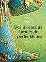 Des mocassins brodés de perles bleues par Querry