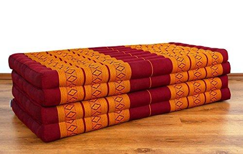 Folding mattress 100/% natural Kapok filling bed foldable cushion relaxation XXL