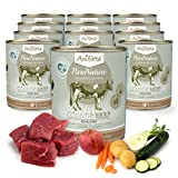 AniForte® PureNature Nassfutter 800g Country Beef Hundefutter- Naturprodukt für Hunde (Feines Rind, 12x800g)