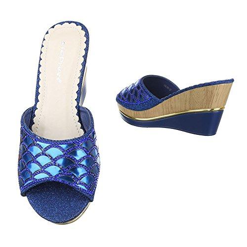 Ital-design - Bottines Femme Blau