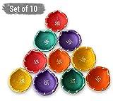 #3: Tied Ribbons Diya Decorative For Diwali |Diya Gift Set (Set Of 10, Handmade)