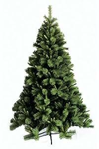 Albero di Natale verde chiaro, altezza 180 cm, diametro 100cm, plastica e metallo