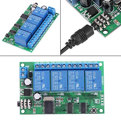 Aufee Signalrelais, AD22B04 12V 4-Kanal-gesteuerter DTMF-Tondecoder Telefon-Fernsteuerungsschalter-Kit PLC-Konverter-Schalter-Dimmer-Relais Dtmf Tone Decoder