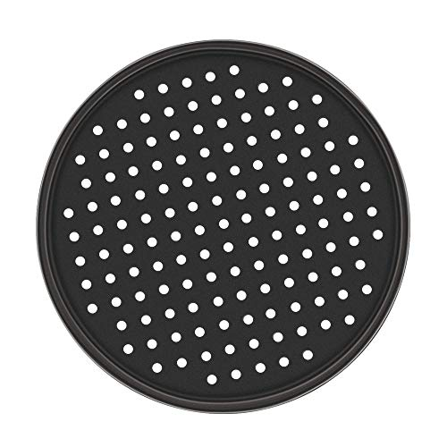 2 Pack Pizza Pans Carbon Steel Perforated Baking Pan mit Nonstick Coating 12 Inch Round Pizza Crisper Tray Tools Bakeware Set Airbake Pizza Pan