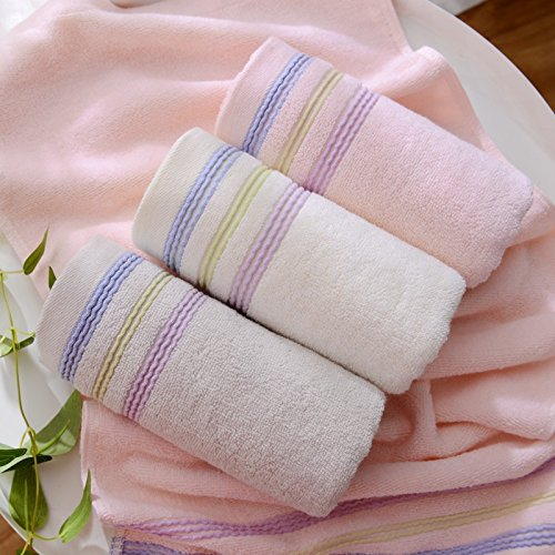 pirate Drei geladene Baumwolle nach Waschen Badewanne Stark saugfähige Baumwolle Handtuch home weich und schnell trocknendes Handtuch, Orchidee Farbe Weiß, Hellgrau (Weiße Bettwäsche-badewanne)