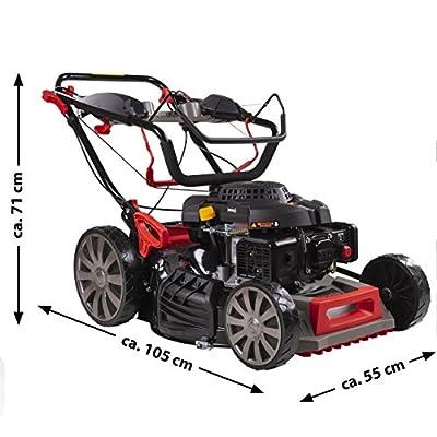 Rotfuchs Benzin Rasenmäher 4,4kW (6PS) Selbstantrieb 5in1-Funktion GT-Markengetriebe 196ccm 62L Grasfangkorb 51cm Schnittbreite Reinigungsfunktion