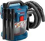 Bosch Professional Akku Nass- und Trockensauger GAS 18V-10 L (18 Volt, 2x 5,0 Ah Akku, 1,6 m Schlauchlänge)