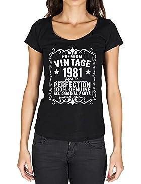 1981 vintage año camiseta cumpleaños camisetas camiseta regalo