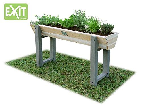 EXIT Aksent Trapezium Hochbeet M / Material: Nordisches Fichtenholz / Maße: 115 x 28 x 60 cm / Gewicht: 10 kg / für Kinder ab 3 Jahren geeign