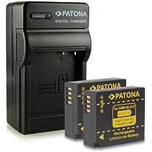 Bundle - 4in1 Caricabatteria + 2x Batteria DMW-BLG10 DMW-BLG10E per Panasonic Lumix DMC-GF6 | Lumix DMC-GX7 e più… [ Li-ion; 750mAh; 7.2V ]