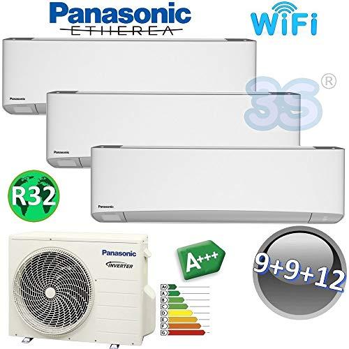 TRIO Split raum gerät ETHEREA PANASONIC Klimaanlage 2,5+2,5+3,2 KW A+++